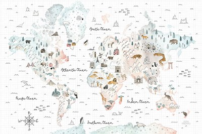 World Traveler I Poster by Laura Marshall for $45.00 CAD