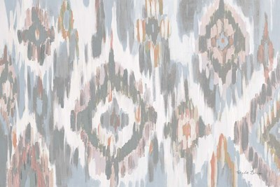Ikat Jewel I blush grey Poster by Farida Zaman for $45.00 CAD