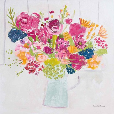 Bouquet for You Bright Poster by Farida Zaman for $35.00 CAD