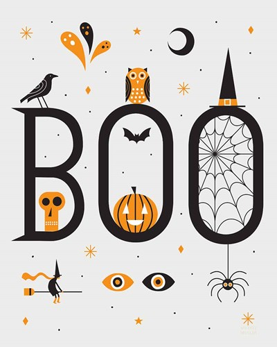 Festive Fright Boo Poster by Michael Mullan for $57.50 CAD