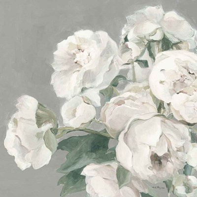 Peonies on Gray Poster by Marilyn Hageman for $57.50 CAD