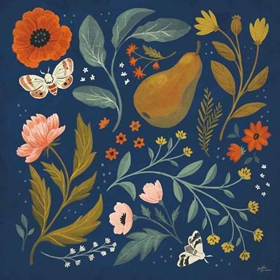 Blue Botanical II Poster by Janelle Penner for $57.50 CAD
