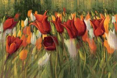 Tipsy Tulips Poster by Shirley Novak for $73.75 CAD