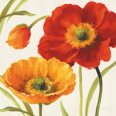 Poppies Melody III Poster by Lisa Audit for $50.00 CAD