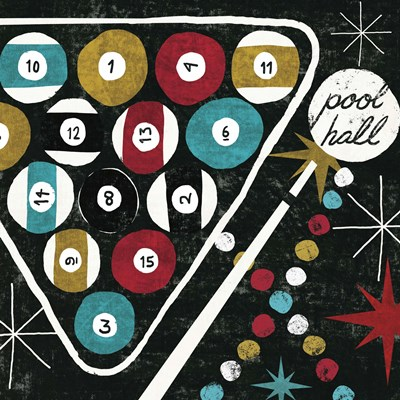 Vegas - Pool Hall Poster by Michael Mullan for $28.75 CAD
