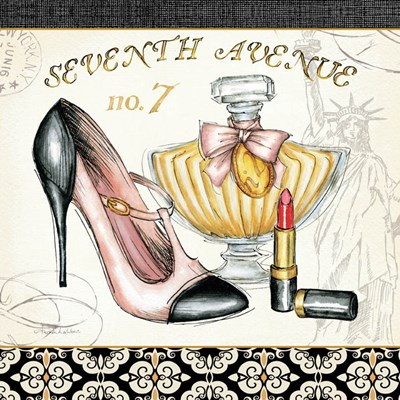 Boutique de Luxe III Poster by Andrea Laliberte for $46.25 CAD