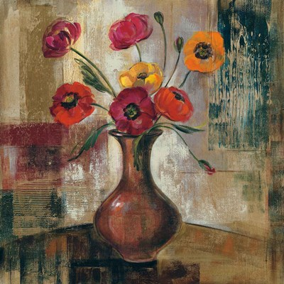 Poppies in a Copper Vase II Poster by Silvia Vassileva for $57.50 CAD