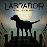 Moonrise Black Dog - Labrador Lake