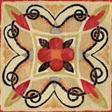 Bohemian Rooster Tile Square I