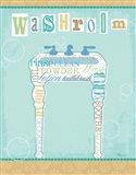 Bathroom Words Sink II