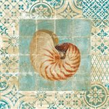 Shell Tiles III Blue