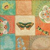 Folk Floral IV Center Butterfly