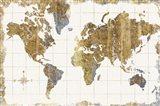 Gilded Map Linen