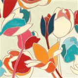 Cloisonne Tulipe II Turquoise and Indigo Vignette