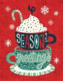 Festive Holiday Cocoa Seasons Greetings