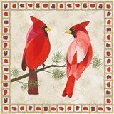 Festive Birds Two Cardinals