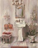 French Bath III Gray and Blush