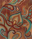 Bohemian Paisley II Turquoise