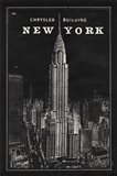 Blueprint Map New York Chrysler Building Black