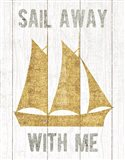 Beachscape V Boat Quote Gold Neutral