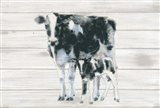 Cow and Calf on Wood