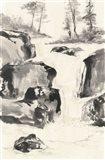 Sumi Waterfall II