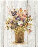 Wild Flowers in Vase II on Barn Board