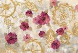 Elegant Fresco Gold Floral