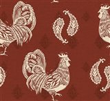 Woodcut Rooster Patterns