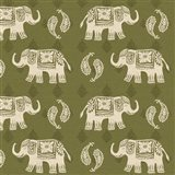 Woodcut Elephant Patterns