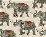 Elephant Caravan Pattern