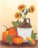 Watercolor Harvest Sunflower I