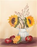 Watercolor Harvest Sunflower II