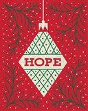 Jolly Holiday Ornaments Hope