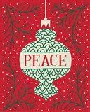 Jolly Holiday Ornaments Peace