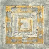 Gold Tapestry II Gold and White