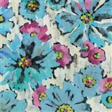 Graphic Pink and Blue Floral I
