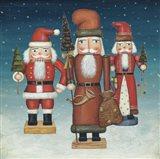 Santa Nutcrackers Snow