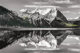 Kananaskis Lake Reflection BW with Color