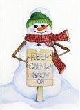 Snowman Saying I