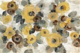 Neutral Floral Beige I Yellow Flowers