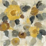 Neutral Floral Beige II Yellow Flowers