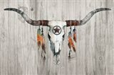 Longhorn on Wood