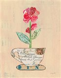 Teacup Floral IV on Print