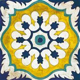 Andalucia Tiles C Blue and Yellow