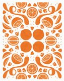 Retro Orange Otomi Monotone