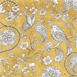 Color my World Bird Paisley I Gold