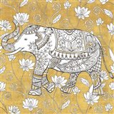 Color my World Elephant II Gold