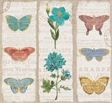 Bookshelf Botanical II Triptych