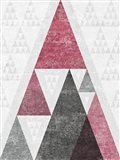 Mod Triangles III Soft Pink
